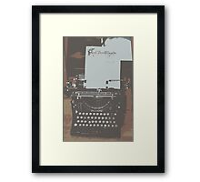 The Happy Writer Framed Print