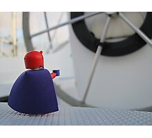 Nigel dreams of a way to steer the boat Photographic Print