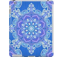 Ornate blue waves pattern iPad Case/Skin