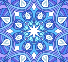 Ornate blue waves pattern Sticker