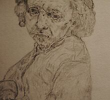 Pencil Interpretation of Rembrandt's 1659 Self Portrait by Katie  McNeice