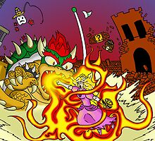 Conflagration in the Mushroom Kingdom by ShotgunZen