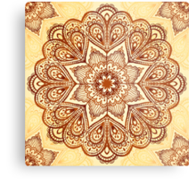 Ornate vintage vector napkin Metal Print
