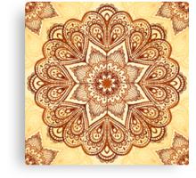 Ornate vintage vector napkin Canvas Print