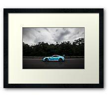 Aston Martin Vantage V12 on goldRush Rally Framed Print