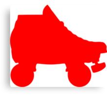 red rollerskate Canvas Print