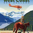 The West Coast  Fox Moth and Fox Glacier by contourcreative