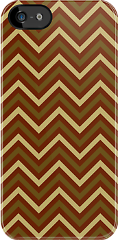 Chevron Pattern with Earth Tones by Paul Lawrence