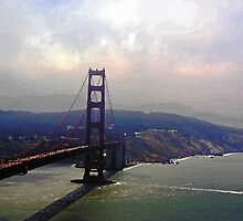 San Francisco Gold Gate Bridge by Tina Hailey
