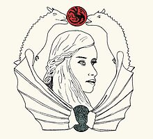 Mother of Dragons [ Prints / Iphone / Ipad / Shirts / Stickers ] by swelldame