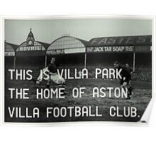 Aston Villa Football Club Poster