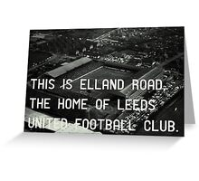Leeds United Football Club Greeting Card