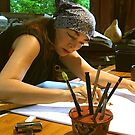 drawing . . . with my pencil holder by evon ski