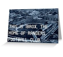 Rangers Football Club Greeting Card