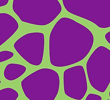 Animal Print (Giraffe Pattern) - Purple Green  by sitnica