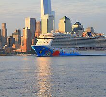 Cruise Ship Norwegian Breakaway On The Hudson Rv. by pmarella