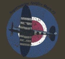 Vintage Fighter Plane Supermarine Spitfire Mark 19 T-Shirt