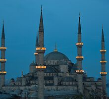 Blue Mosque at dusk by AHigginsPhoto