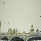 over the Thames by Peter Brandt