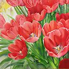 Red Tulips by Karin Zeller
