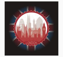 London City Skyline - black sticker by SwanStarDesigns