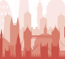 London City Skyline - black sticker Sticker