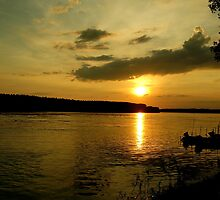 Sunset on the river by Ana Belaj