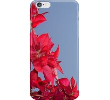 Pink Red Blooming Bougainvilleas Against A Blue Sky iPhone Case/Skin