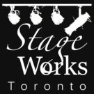 StageWorks Toronto Large Square Logo on dark Shirt by marinasinger