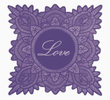 Purple vintage lace love 03 by jaclinart
