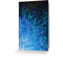 GALACTIC SCALES - Sea Scales in Deep Royal Marine Navy Blue Tones, Stars Abstract Acrylic Painting  Greeting Card