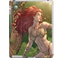 Redhead Cavewoman in Jungle by Al Rio iPad Case/Skin