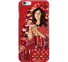 Portrait of Clara Oswin-Oswald a la Klimt iPhone Case/Skin