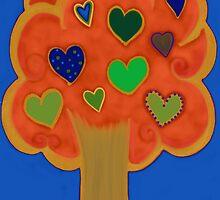 Vivid Tree of Hearts by byAngeliaJoy