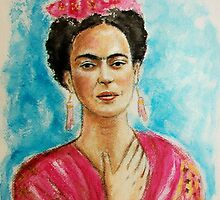 Portrait of Frida Kahlo ♥ by karina73020
