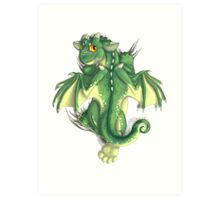 D is for Dragon! Art Print