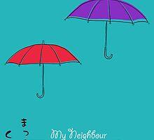 My Neighbour Totoro minimalist poster by Munkhai