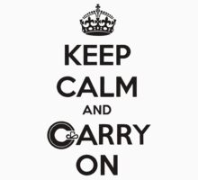 Keep Calm Carry On Calgary Black by Morgan Booker