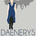 Daenerys [w/Drogon] Game of Thrones - Minimalist Design by Hrern1313