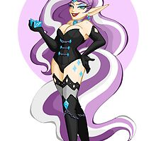 My Little Pin Up- Nightmare Rarity by LillyKitten