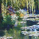 Willow & lilies, Giverny by Terri Maddock