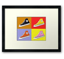 Pop Art All Star Inspired Hi Top Sneaker Framed Print