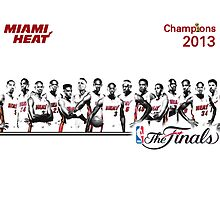 Miami Heat NBA Champs 2013 by jsipek