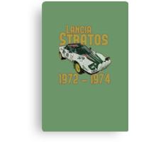 Vintage Look Lancia Stratos Retro Rally Car Canvas Print