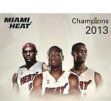 Miami Heat big 3, Champions 2013 by jsipek