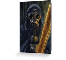 Steampunk Vader Greeting Card