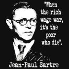Jean-Paul Sartre by blackiguana