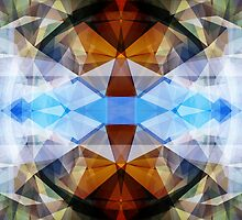 Colorful Kaleidoscope Abstract by perkinsdesigns