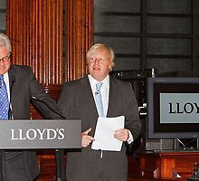 John Nelson & Boris Johnson by Keith Larby