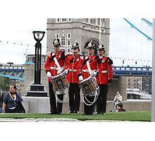 The Royal Anglian Band playing at City Hall Photographic Print